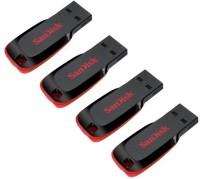 SanDisk Cruzer Blade (Pack Of 4) 8 GB Pen Drive(Black, Red) best price on Flipkart @ Rs. 937