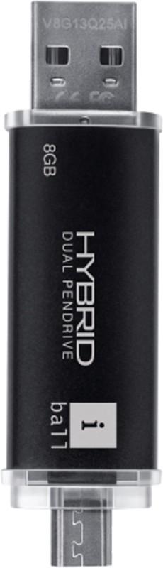 iBall Hybrid 2.0 8 GB Pen Drive(Black)