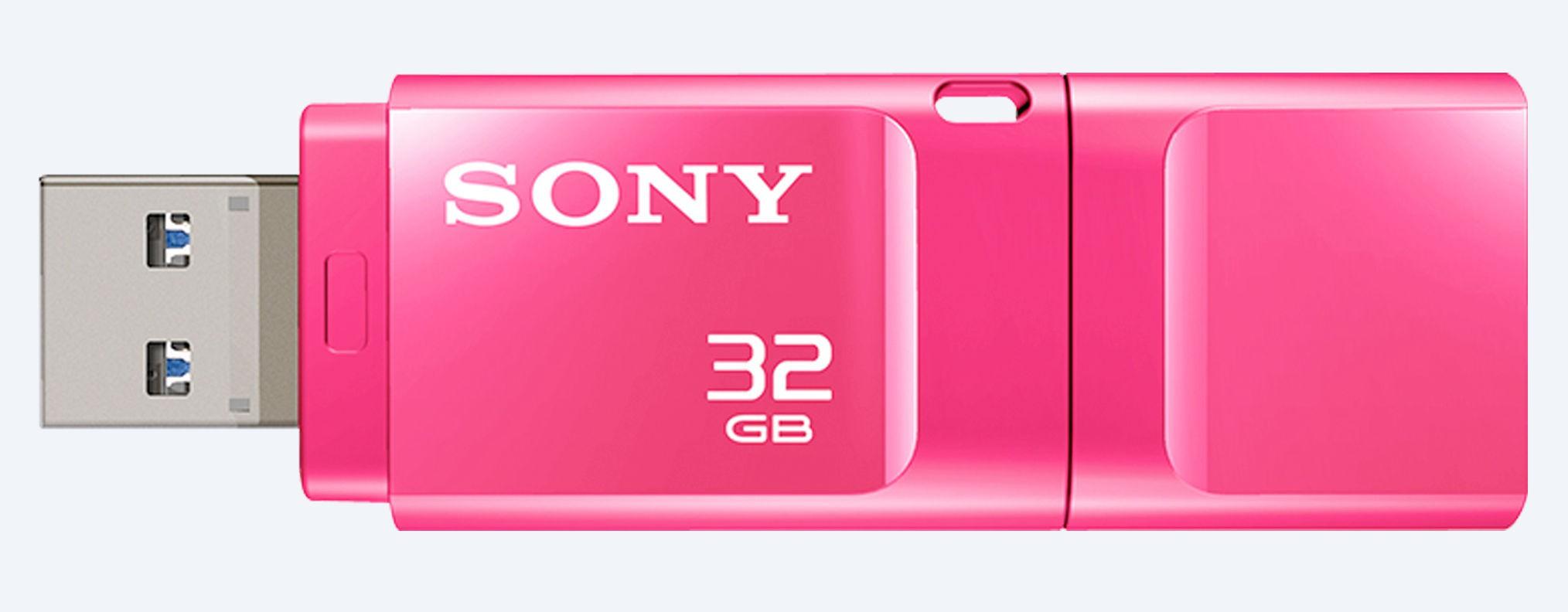 View Sony Micro Vault 32 GB Pen Drive(Pink) Price Online(Sony)