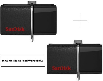 SanDisk On-The-Go ( Combo ) 16 GB Pen Drive
