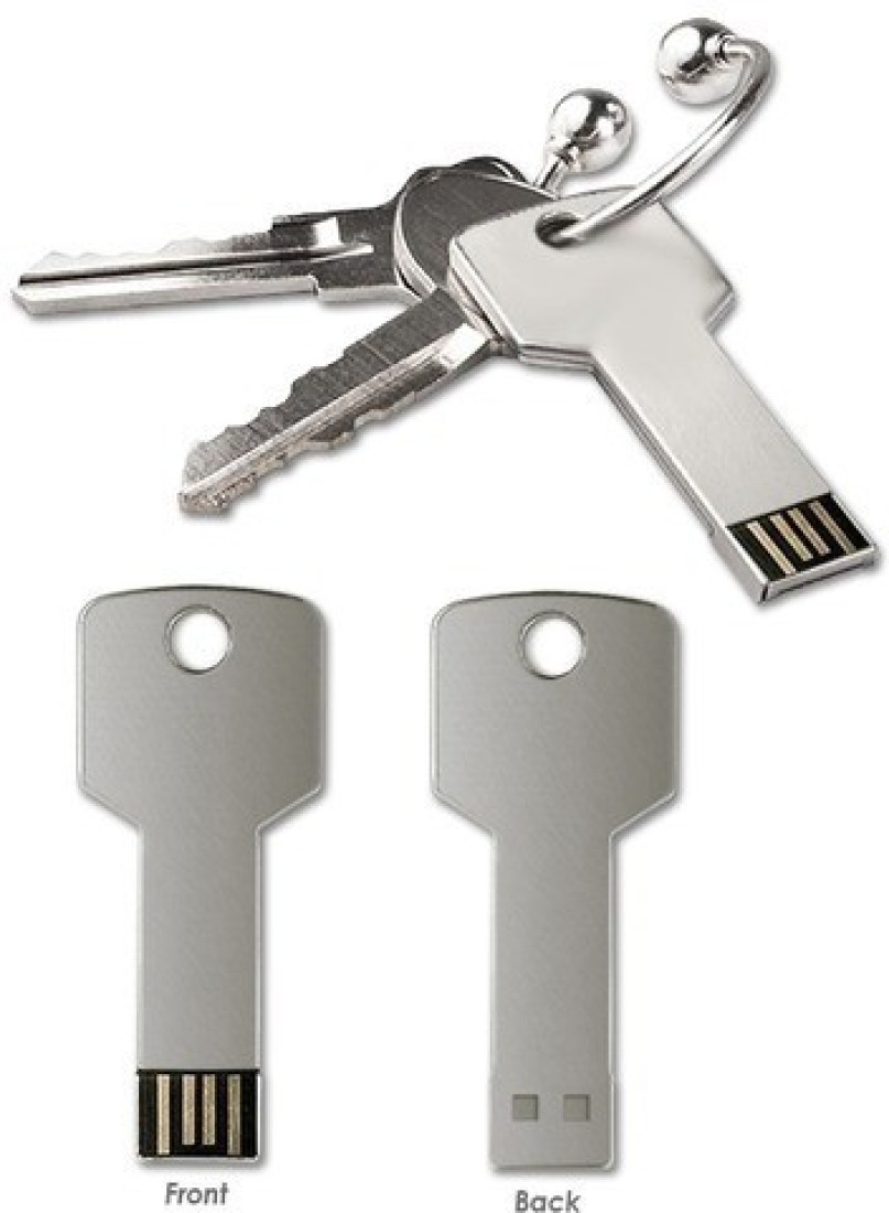 View Flipfit 100 % Original Highspeed STYLISH FASHION key shape 16 GB Pen Drive(Silver) Price Online(Flipfit)