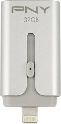 PNY Duo-Link for iPhone and iPad + on the Go 32 GB Pen Drive