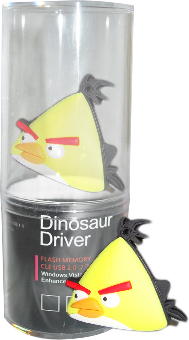 View Dinosaur Drivers Angry Bird 8 GB Pen Drive(Multicolor) Price Online(Dinosaur Drivers)