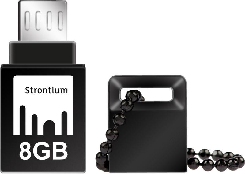 Strontium 8GB NITRO ON-THE-GO (OTG) USB 3.0 FLASH DRIVE 8 GB OTG Drive(Black, Type A to Micro USB)