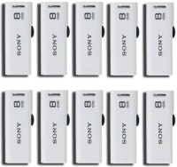 View Sony USM8GR/WZ 8 GB Pen Drive(White) Price Online(Sony)