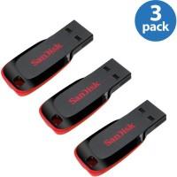 SanDisk Cruzer Blade (Pack Of 3) 8 GB Pen Drive(Red, Black) best price on Flipkart @ Rs. 1195
