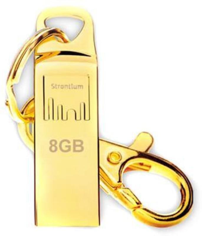 Strontium Sr8gslammo 8 GB Pen Drive(Gold)