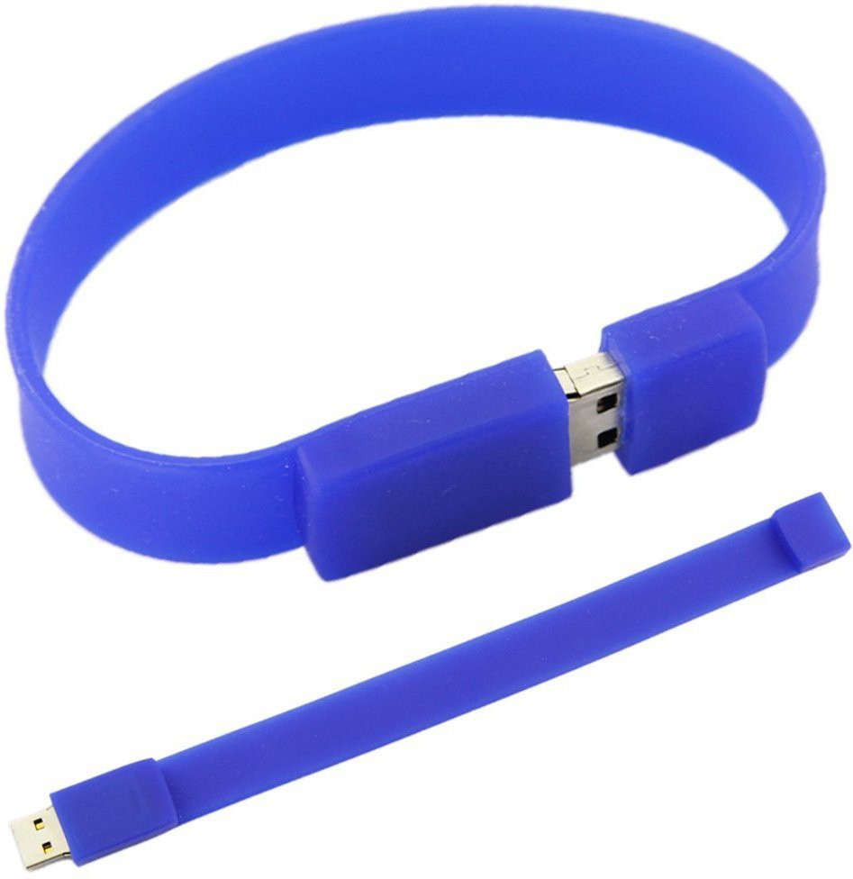 View Flintstop Wrist Band USB-8-BL 8 GB Pen Drive(Blue) Price Online(Flintstop)