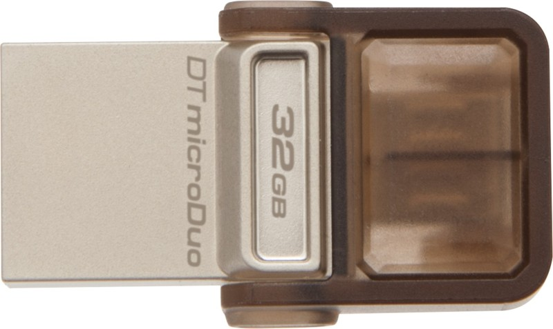 Kingston Data Traveler MicroDuo 32 GB OTG Drive(Brown, Type A to Micro USB)
