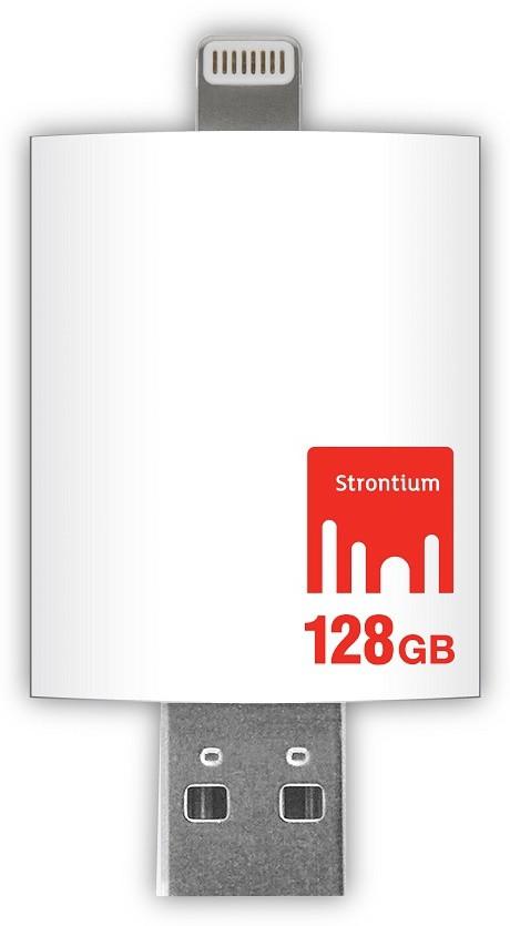 View Strontium Nitro Idrive 3.0 Otg Pendrive For Ios Utility Pendrive 128 GB Pen Drive(White) Price Online(Strontium)
