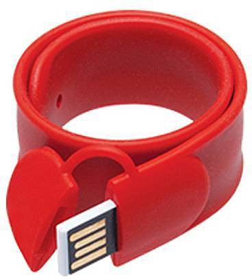 View eShop Wearable Slap Bracelet Wristband USB Flash Drive 16 GB Pen Drive(Red) Price Online(eShop)