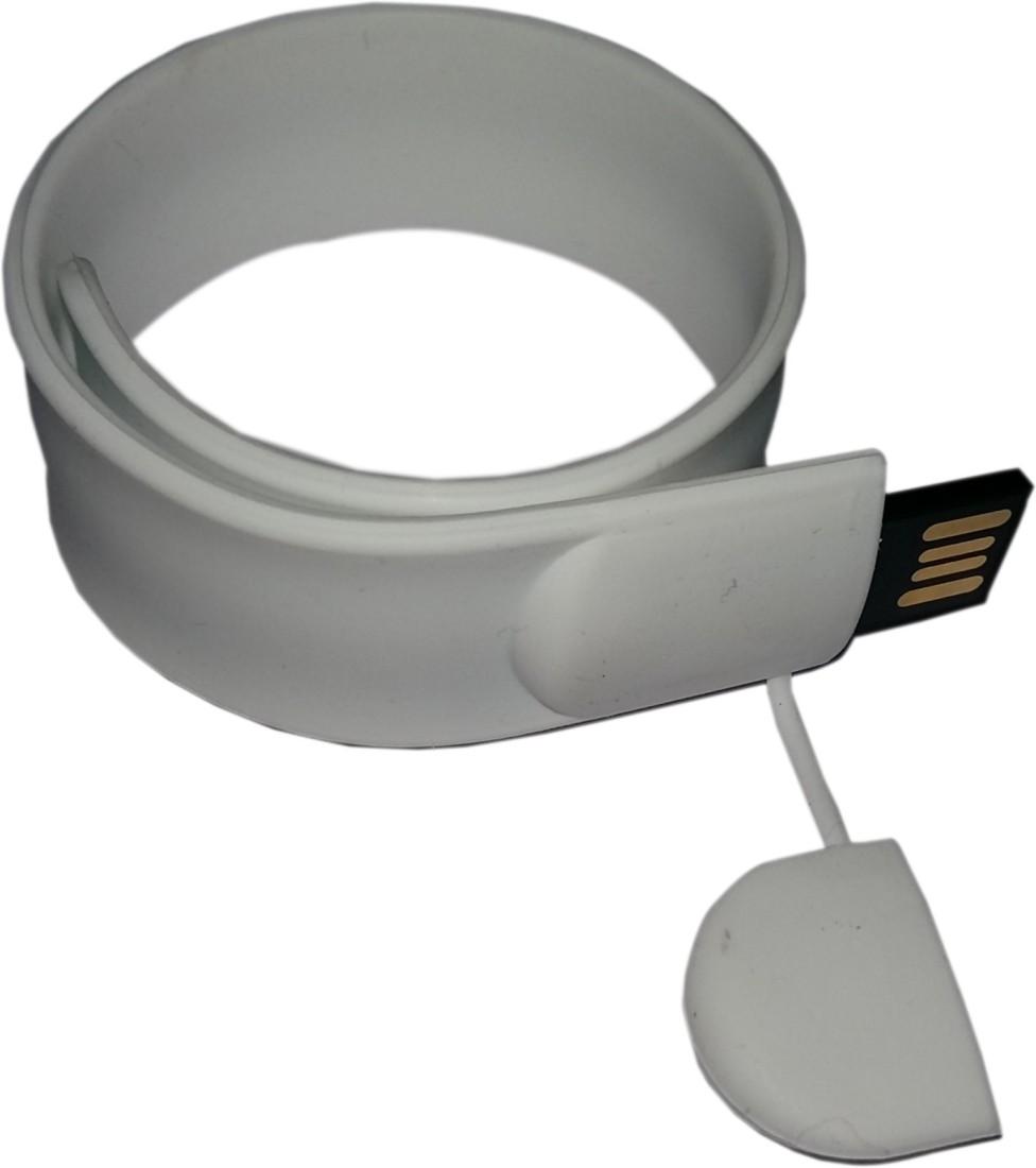 View Flipfit 100 % Original Highspeed SILICON STYLISH FASHION WRIST BAND 32 GB Pen Drive(White) Price Online(Flipfit)