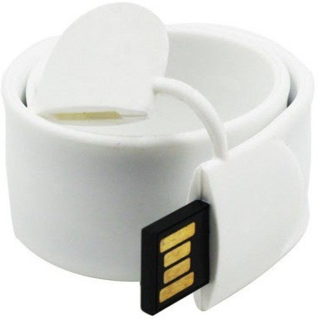 View eShop Genuine PVC Bracelet Shaped Slap Wrist Band USB Flash Drive 16 GB Pen Drive(White) Price Online(eShop)