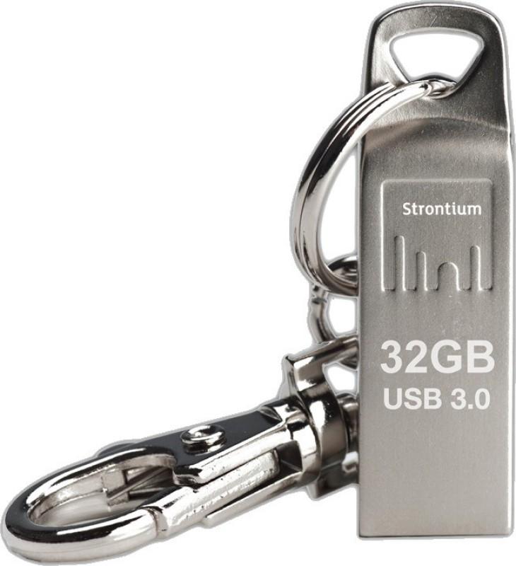 Strontium SR32GSLAMMOZ 32 GB Pen Drive(Silver)