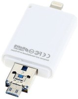 ROQ 3 in 1 I Flash Drive For Lightning With USB Function 64 GB OTG Drive(White)