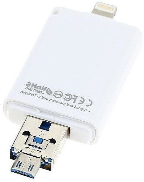 View ROQ 3 in 1 I Flash Drive For Lightning With USB Function 64 GB Pen Drive(White)  Price Online