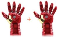 Sam Iron Man Hand (Pack of 2) 16 GB Pen Drive(Red, Gold)