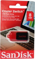 SanDisk Cruzer Switch Flash 8 GB Pen Drive(Black) best price on Flipkart @ Rs. 455