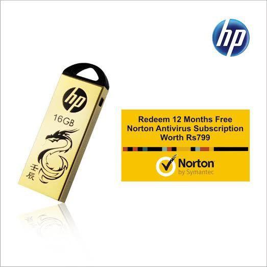 Flipkart - Pendrives with Free Norton AntiVirus Below Rs. 999