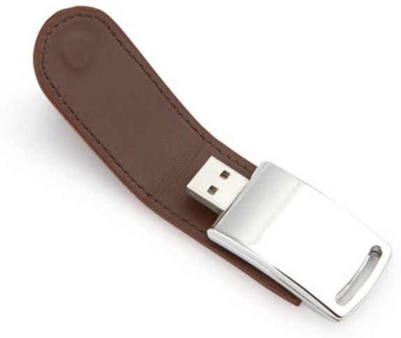 View eShop Leather Magnetic Flap 4 GB Pen Drive(Brown) Price Online(eShop)