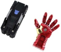 Sam Transformer-Iron Man Hand 16 GB Pen Drive(Black, Red, Gold)