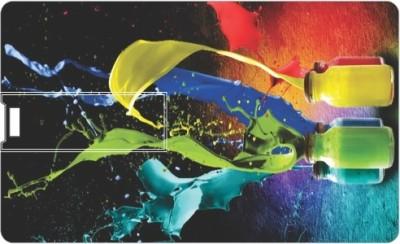 Printland Credit card Paints PC80844 8 GB Pen Drive(Multicolor)