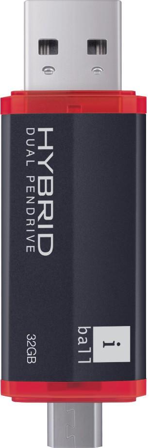 View iBall Hybrid 16 GB Pen Drive(Black) Price Online(iBall)