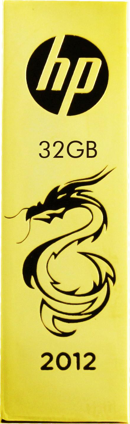View HP v218g 32 GB Pen Drive(Golden)  Price Online
