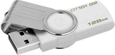 Kingston Data Traveler 101 G2 128 GB Pen Drive(White)