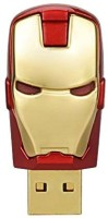Sam Iron Man Head 16 GB Pen Drive(Red, Gold)