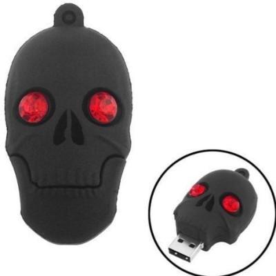 Quace Black Skull 16 GB Pen Drive