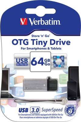 Verbatim Store,n, Go OTG Tiny USB 3.0 Drive 64 GB OTG Drive