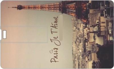 Printland Credit card Paris Time 8 GB Pen Drive(Multicolor)