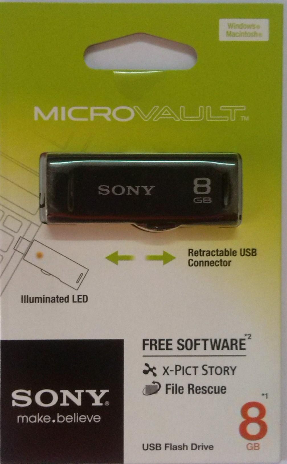 View Sony Micro Vault 8 GB Pen Drive(Black) Price Online(Sony)