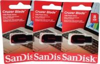 SanDisk Cruzer Blade Usb 8 GB Pen Drive(Multicolor) best price on Flipkart @ Rs. 1050