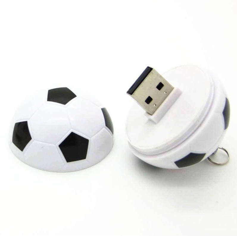 View eShop Football Shape 16 GB Pen Drive(White, Black) Price Online(eShop)