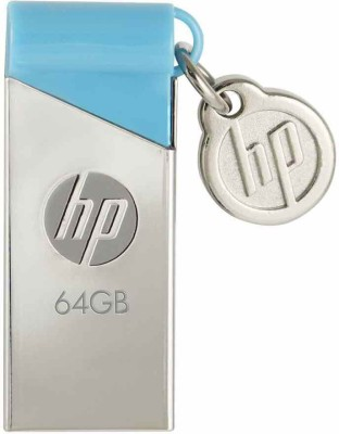 HP V215B 64 GB Pen Drive(Blue, Silver) at flipkart