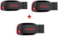 SanDisk SanDisk 16gb pendrive crzer blade pack of 3 16 GB Pen Drive(Multicolor) best price on Flipkart @ Rs. 1239