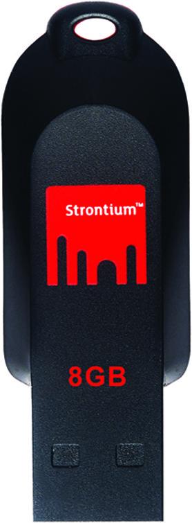 View Strontium SR8GRDPOLLEX 8 GB Pen Drive(Black) Price Online(Strontium)