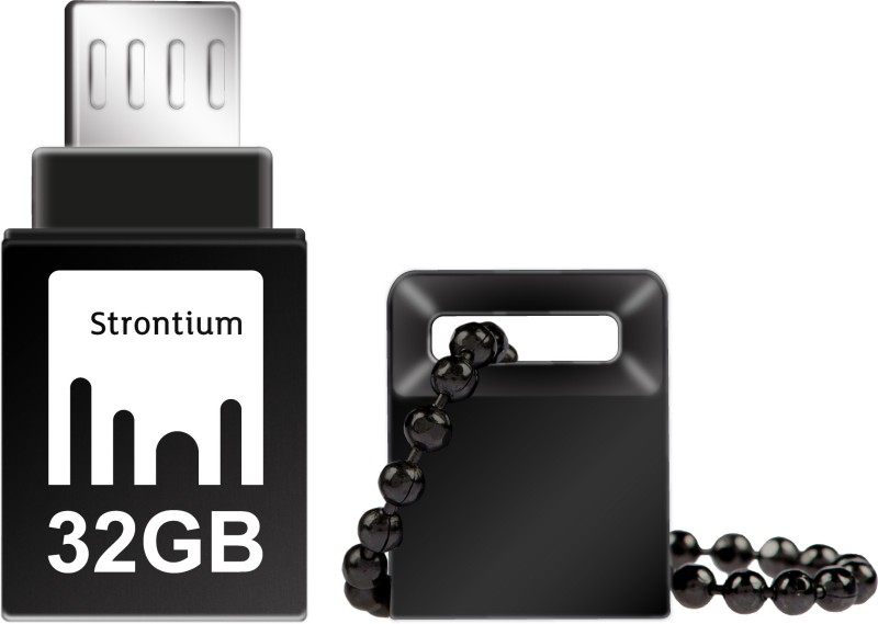 Strontium 32GB NITRO ON-THE-GO (OTG) USB 3.0 FLASH DRIVE 32 GB OTG Drive(Black, Type A to Micro USB)