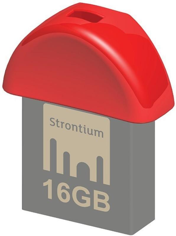 Strontium Nitro Plus Nano 16 GB Pen Drive(Red)