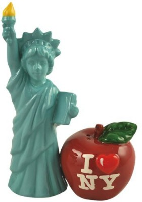 Westland Giftware Mwah! Lady Liberty And Big Apple 514Inch Magnetic Salt And Pepper Shakers