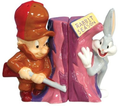 Westland Giftware Looney Tunes Magnetic Elmer Fudd And Bugs Bunny Salt And Pepper Shaker Set