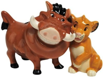 Westland Giftware Pumbaa And Simba Magnetic Ceramic Salt And Pepper Shaker Set