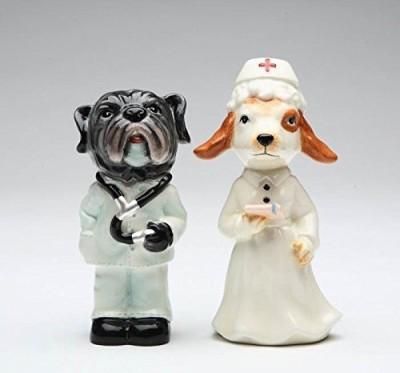 Appletree Hospital Dog Salt And Pepper Shaker Set