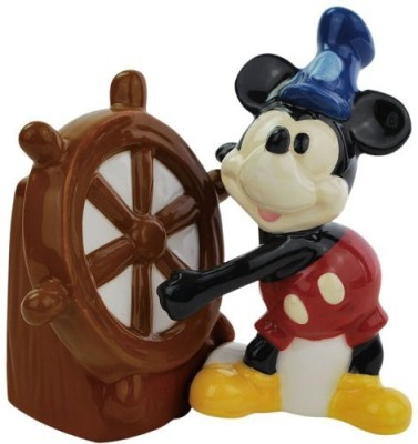 Westland Giftware Steamboat Willie Magnetic Ceramic Salt And Pepper Shaker Set