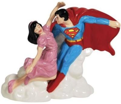 Westland Giftware Superman And Lois Lane Magnetic Ceramic Salt And Pepper Shaker Set