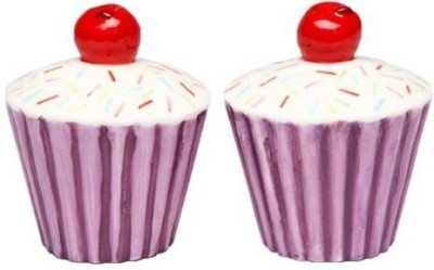 Appletree Design Purple Cupcake With Cherry Salt And Pepper Set