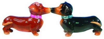 Westland Giftware Mwah Magnetic Dachshunds Salt And Pepper Shaker Set