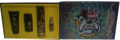 Ed Hardy Man Gift Set (EDT100ml+7.5mlMini+SG90ml+DS78gm Eau de Toilette  -  275 ml